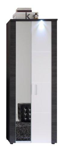 trendteam Garderobe Garderobenschrank Schrank Xpress, 69 x 184 x 38 cm in Korpus Esche Grau Dekor,...