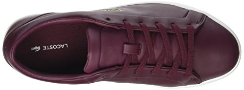 Lacoste Straightset Lace, Sneaker Donna Rosso (Burg)