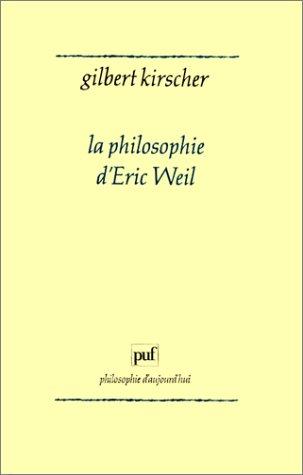 La philosophie d'Éric Weil