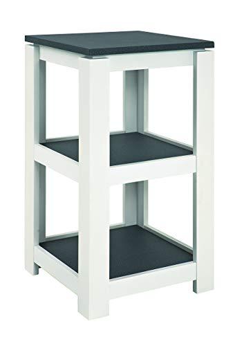 Haku Moebel 42577 Console, MDF, Optique Granit/Blanc, 40x40x74 cm