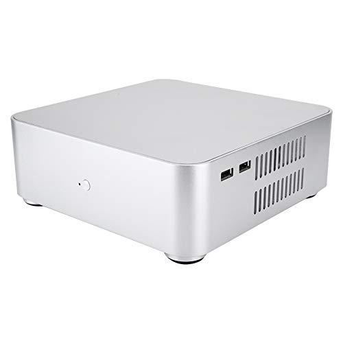 ASHATA Mini-ITX-Computergehäuse 2.0 Aluminiumlegierung-HTPC-Gehäuse Mini-PC-Computergehäuse für Computer