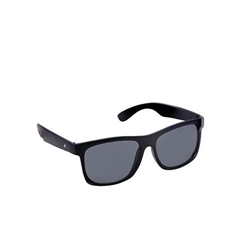 Fastrack UV Protected Wayfarer Men\'s Sunglasses - (P425BK3 56 Grey Color Lens)