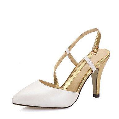LvYuan Da donna-Sandali-Matrimonio Formale Serata e festa-Con cinghia Club Shoes-A cono-Finta pelle-Rosa Bianco White