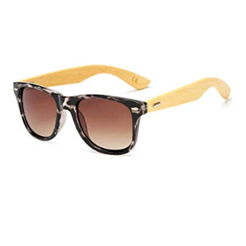 WERERT Sportbrille Sonnenbrillen Retro Wood Sunglasses Men Bamboo Sunglass Women Sport Goggles Gold Mirror Sun Glasses