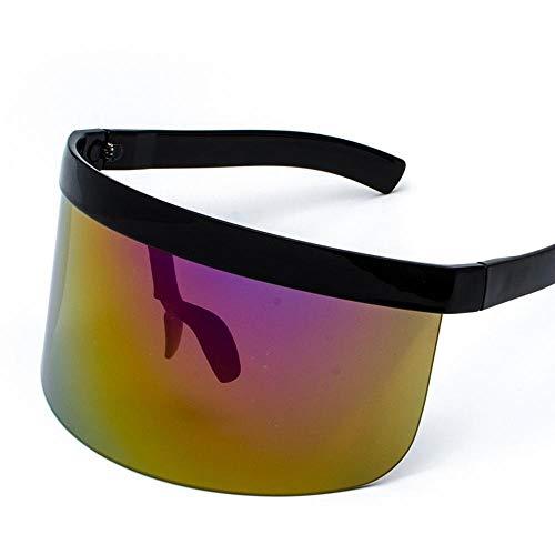 XIAOL Home Herren-Sonnenbrillen Damen Großer Rahmen Sonnenschutz-Peeping-Hut-Brille All-in-one persönliche Gesichtsmaske Sonnenbrillen-Modetrends