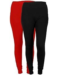 IndiWeaves Women Solid Chudidar Cotton Lycra Leggings (Pack Of 2)