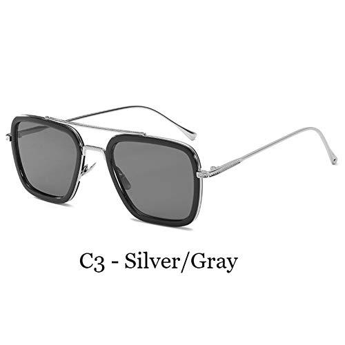 TJJQT Sonnenbrillen Sonnenbrillen Herren Iron Man Brillen Square