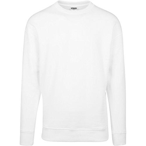 Urban Classics Herren Sweatshirt Sweat Crewneck Weiß (White 220)