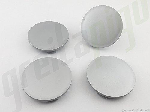 4x Außen 60 mm Innen 56 mm Nabenkappen A25-27 Felgendeckel Radnabendeckel Grau NoLogo