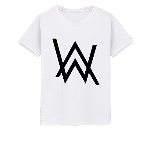 Tiny Time Unisex Freizeit Mode Kurze Hülse Reine Baumwolle T-shirt (S, White) (- Reine T-shirts S/s Baumwolle)