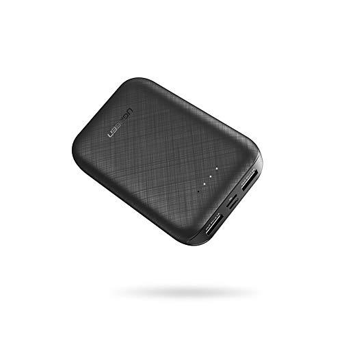 UGREEN 10000mAh Powerbank klein Externer Akku Dual USB 5V 2.1A Mini Handy Mobile Ladegerät für iPhone 11,XR,XS Max,X, iPhone 8 7 SE, Samsung S10 S9 S8 Note 9 M20 A50, Huawei P20 lite,Xiaomi Mi A3 usw