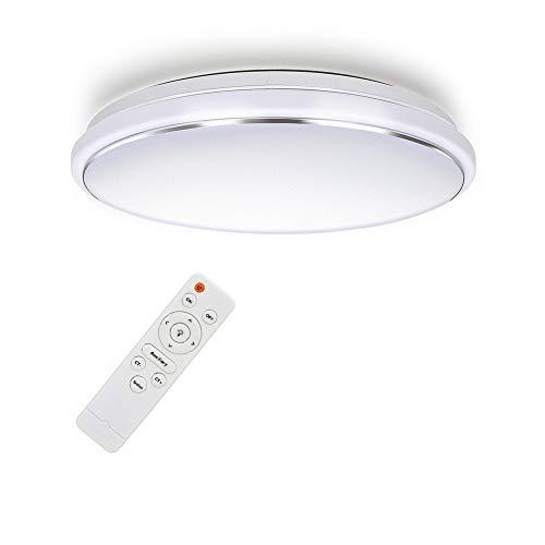 Tonffi LED Deckenleuchte 62W Dimmbar Farbtemperaturen und Helligkeitsstufen mit Fernbedienung für Badezimmer Balkon Flur Bad Küche Wohnzimmer Rund