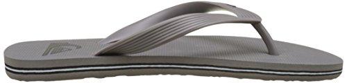 Quiksilver  Molokai, Sandales Plateforme homme Multicolore (Grey Heather/Charcoal Heather)