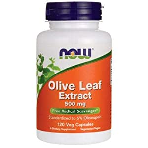 Now Foods Olive Leaf Extract, 500mg, 120 Vegetarian Capsules