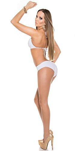 3 Stück Sexy Neck-Bikini mit Kettenträger Koucla by In-Stylefashion SKU 0000B2139-N01 Weiß