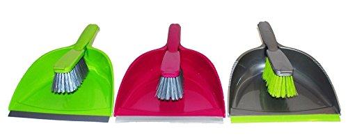 Verschiedene Farben Kunststoff Kehrschaufel und Pinsel-Set Home-Besen-Schaber, aus Kunststoff, für die Küche