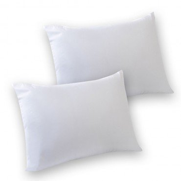 SleepyNights Love2Sleep 2 NON ALLERGENIC POLY COTTON HOLLOW FIBRE PILLOWS : SUPER VALUE SOFT SUPPORT
