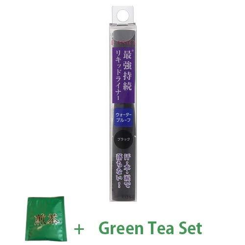 Kose Fasio New 2018 Powerful Stay Slim Liquid Eyeliner - BK001 (Green Tea Set)