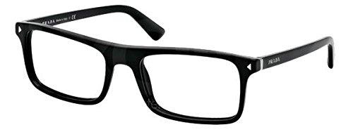 PRADA PR 02RV Eyeglasses 1AB1O1 Black 56-19-145