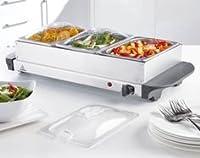 Questo elettrodomestico non dovrebbe mai mancare per i vostri buffet caldi. Comodo per mantenere caldi i tuoi piatti durante le lunghe cene. Hai la possibilità di scegliere tra una versione piccola e una grande, entrambe con coperchi traspare...
