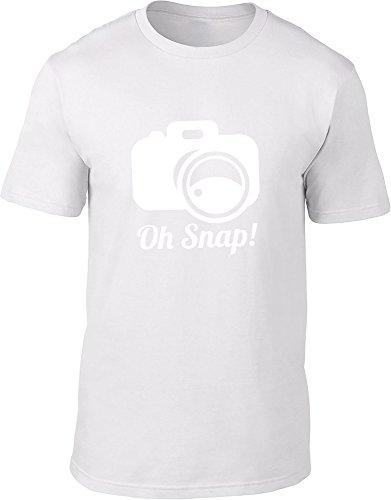 Oh Snap Herren T-Shirt, Weiß, SKU34624 -