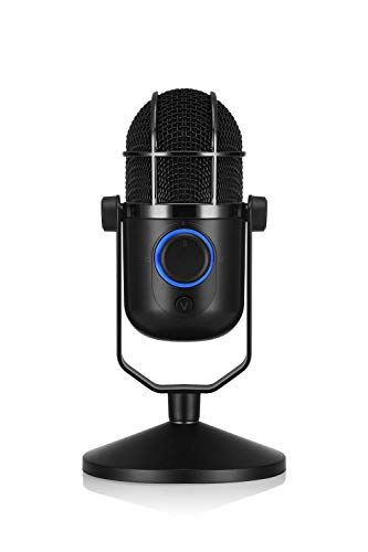 Thronmax M3 Mdrill Dome One Professionelles Studio Kondensator-Mikrofon USB, Condenser Capacitor Microphone zum Chatten, Skype, Youtube, Recording, Gaming, Podcasting, Streamen, schwarz