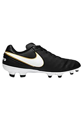 cheap for discount 2a1f7 6c307 NIKE Tiempo Genio II Leather FG Chaussures de Football Noir Homme ...