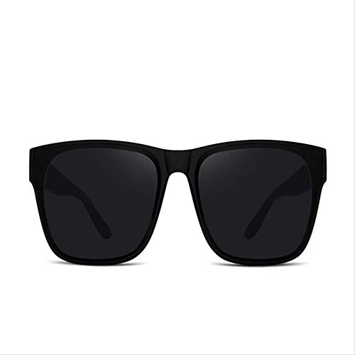 LKVNHP Hohe Qualität (168Mm) Polarisierte Sonnenbrille Übergroße Frauen Männer Sonnenbrille Für Frau Mode Schwarz Breites Gesicht Antireflexion Uv400