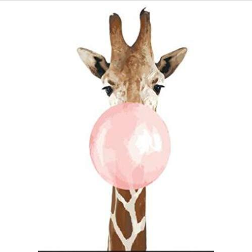 CYKEJISD Puzzle 1000 Teile 3D Puzzle Bubble Gum Giraffe Kits Für Erwachsene DIY 75X50Cm
