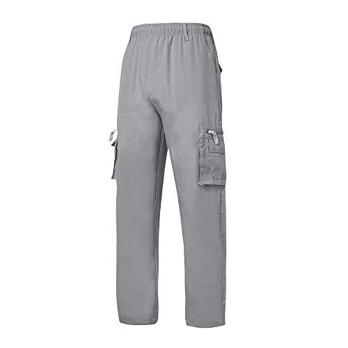 ZARLLE_Pantalones para Hombre Casual Chino Jogging Algodón Pantalones Largos Cargo para Hombre, Múltiples Bolsillos,Laborales,Casuales,Recto,Suelto