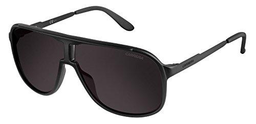 Carrera new safari nr gtn, occhiali da sole uomo, nero (matte shiny black/brown grey), 62