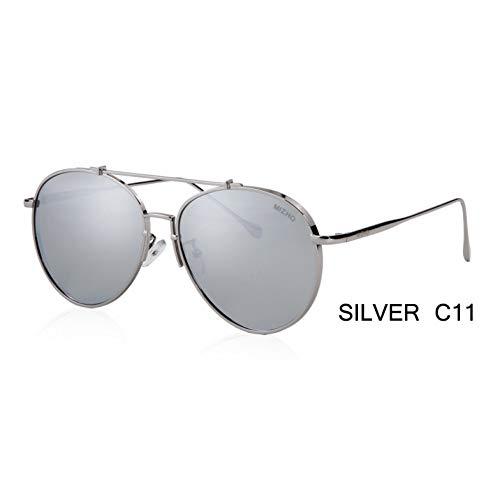 ZRTYJ Sonnenbrillen Polarisierte Sonnenbrille Für Damen Aviation Flash Mirrored Lens Uv-Schutz Brillen Herren Piloten Sonnenbrille Pink