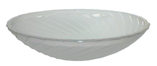 budawi® - Brunnenschale/Glasschale (Dawen groß) Ø 40 cm mit Wellen Muster