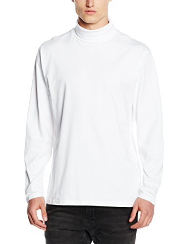 Henbury Herren Pullover Roll Neck Long Sleeved Top, Weiß, Xx-large (herstellergröße: Xx-large) Sweatshirt Hals