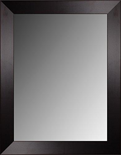 Lienzos Levante DATAB01-6 Espejo de Pared Baño o Recibidor, Madera, Wengué, 88 x 67 cm