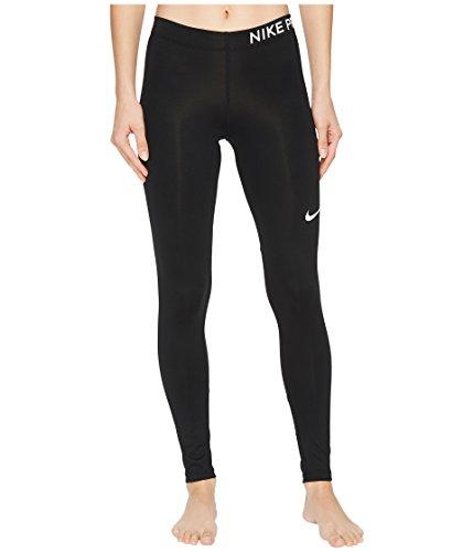 Nike Damen Pro Hose, Black/White, S