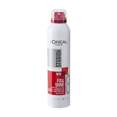 LOREAL PARIS STUDIO LINE 8 FIX & SHINE 24H FIXING SPRAY 250ML  available at amazon for Rs.1100
