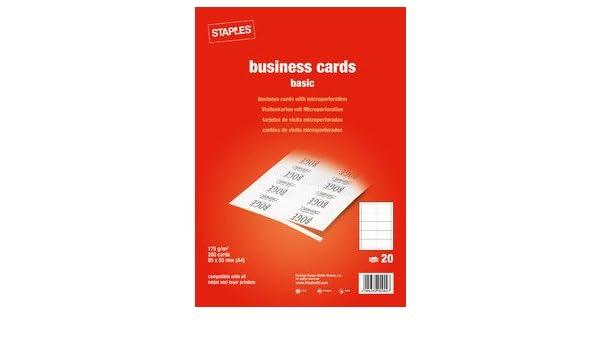 Staples Visitenkarten Basic Mp Weiß 85x55mm 175g 200 St