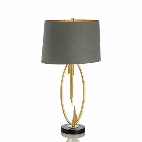 SLH Amerikanisches Schlafzimmer Nachttischlampe Metall Einfache Kreative Persönlichkeit Marmor Wohnzimmer Schreibtischlampe - Ashley Metall