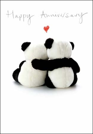 Greeting card - your wedding anniversary - «Good Together»