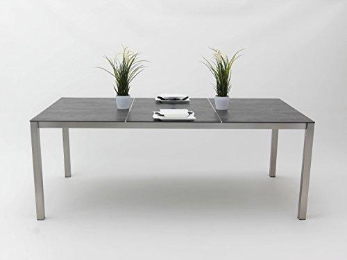 Edelstahl-Tisch Kato 200x100 cm, Tischplatte Keramik -