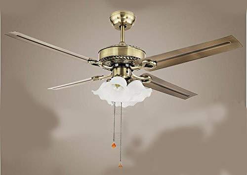 * Ventilatore a soffitto con camera da letto lampada con lampadari e ventilatore a Led con ventola di ferro da stiro 42 pollici bianco interruttore a fune Luci e lanterne di illuminazione Diametro 1