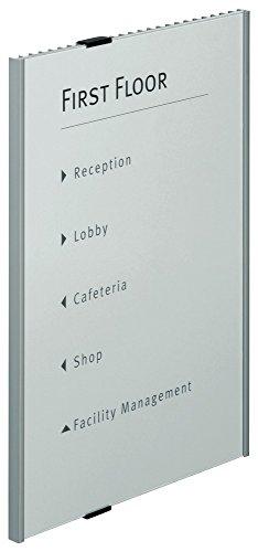 Durable 480823 Info Sign A3 Türschild (297 x 420 mm) metallic silber