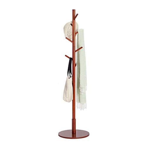 HAIYUGUAGAO Garderobe Hall Tree Coat Hat Rack Freistehende Moderne Eingangsbereich aus Holz Kleiderständer Hut Ecke Hall Umbrella Stand Baum für Schlafzimmer Wohnzimmer Büro (Color : Dark Brown) - Tree Coat