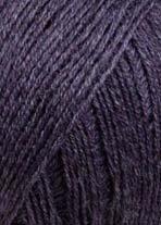 LANG YARNS Merino 400 Lace - Farbe: Aubergine Melange (0080) - 25 g / ca. 200 m Wolle -
