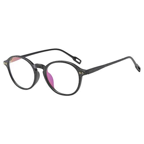 Xinvision Brillen für Männer Frauen,Ultraleicht Retro Holzmaserung TR90 Runden Brillenfassung...