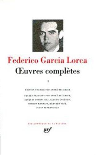 García Lorca : Oeuvres complètes, tome 1 : Poésie par Federico García Lorca