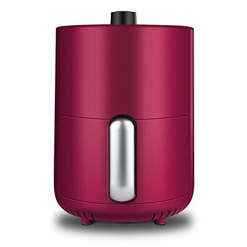 JINRU Luftfritteuse, Deluxe-Zubehörset, 100 Rezepte enthalten, Kochkorbteiler, Gesunder Air Crisper-Ofen,Pink