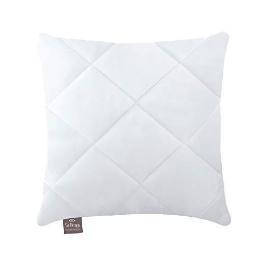 *sei Design Hochwertiges Kopfkissen Kissen Classic 40 x 40 cm | Kochfest | Gesteppt | Mikrofaser*