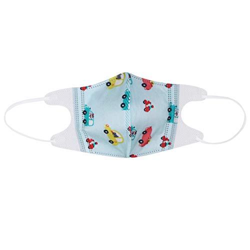 Artibetter 10 stücke Baby Einweg Staubmaske Earloop Atemschutzmasken Vlies Mundschutz für Neugeborene Kleinkinder Kinder Im Alter von 0-3 (blau Auto)